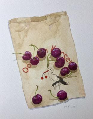 Annette Fienieg: 24-6-2021, Cherries from Bunnik