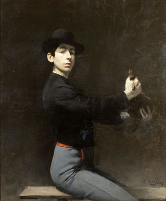 Ramon Casas i Carbó: selfportrait as a flamencodancer
