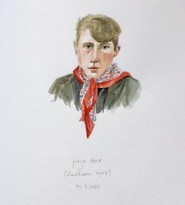 Annette Fienieg: Jonge boer, Zuidlaren 1947; 14-01-2021