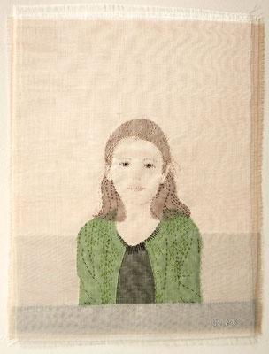 Emily Jo Gibbs, zijde op linnen
