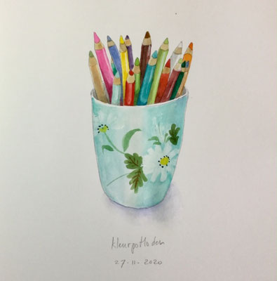 Annette Fienieg: colour pemcils, 27-11-2020