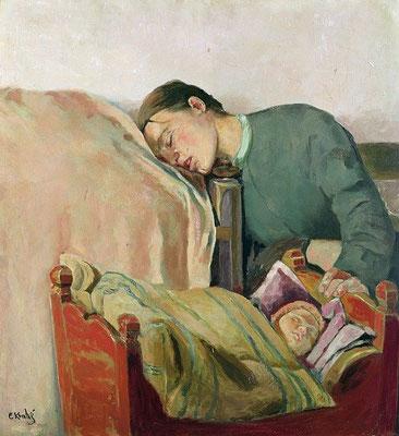 Christian Krogh: Moeder en kind