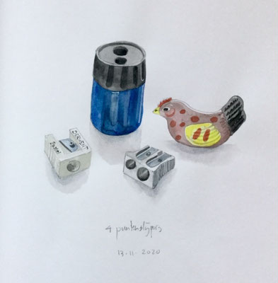 Annette Fienieg: 4 Pencil sharpeners, 13-11-2020