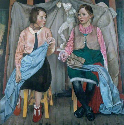 James Cowie: Two schoolgirls