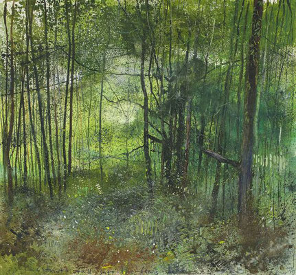Kurt Jackson: Chestnuts fall into the ferns below