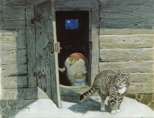 Harald Wiberg: Tomte en kat