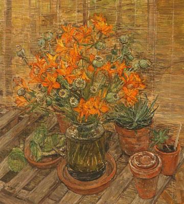 Olwyn Bowey: Peruvian lilies and poppy seeds
