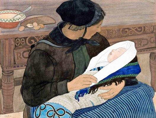 Ernest Biéler: Moeder met kind