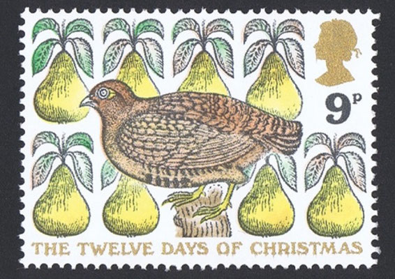 David Gentleman: kerst postzegel
