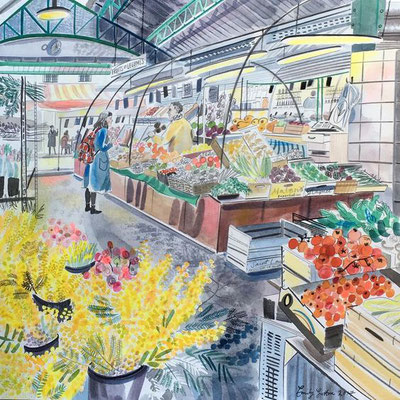 Emily Sutton: Market scene