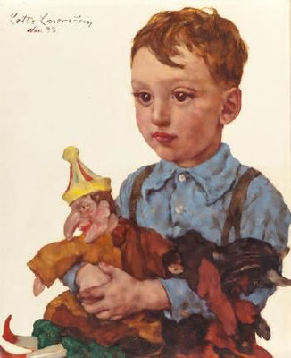Lotte Laserstein: Portret van de kleine Wolfgang Karger