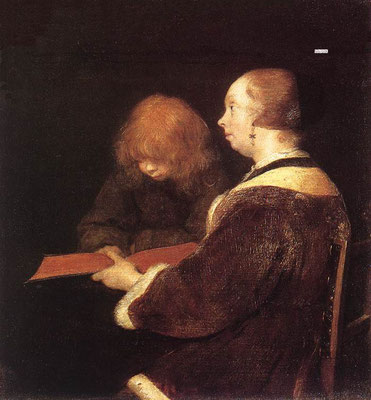 Gerard ter Borch: The reading lesson