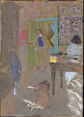 Edouard Vuillard, interior at Saint-Jacut