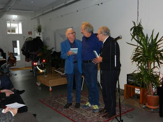 Dolf Verroen, koos Meinderts en Frans Nieuwenhuis
