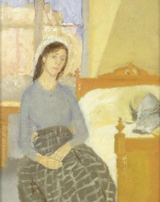 Gwen John; the artist in her room in Paris
