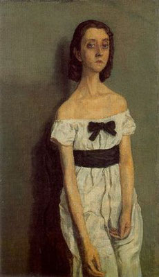 Gwen John; girl with bare shoulders