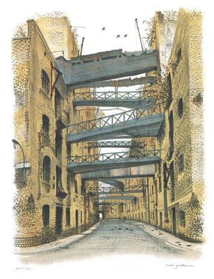 David Gentleman: Shad, Thames