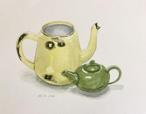 Annette Fienieg: Two teapots, 25-5-2021
