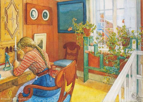 Carl Larsson: Letter writing