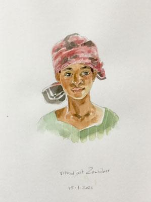 Annette Fienieg: Vrouw uit Zanzibar; 15-01-2021