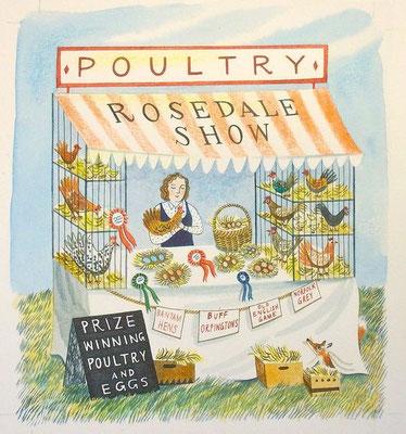 Emily Sutton: Poultry; watercolour