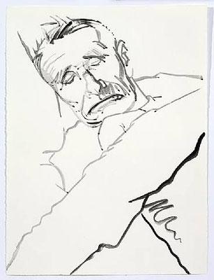 Don Bachardy: portrait of Christopher Isherwood