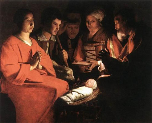 Georges de la Tour: The adoration of the shepherds