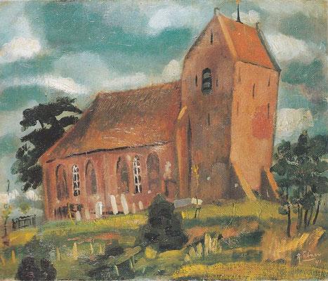 Jannes de Vries: Kerk te Oostum