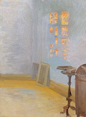 Anna Ancher: Avondzon in het atelier