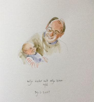 Annette Fienieg: Mijn vader en mijn zoon, 1986; 19-1-2021