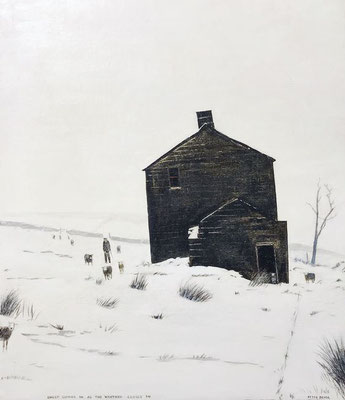Peter Brook: Sheep coming in as the weather closes in