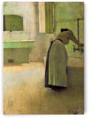 Ramon Casas i Carbó: voorbereiding van het bad