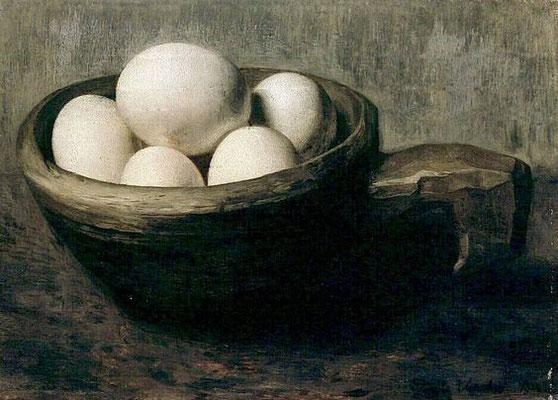 Floris Verster: Eieren in houten nap