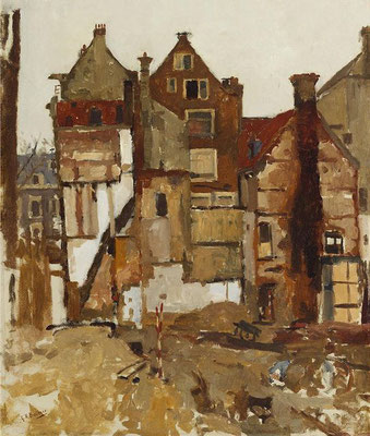 George Breitner: Demolition in the Oudezijds Achterburgwal