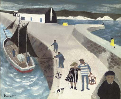 Mary Fedden: The harbour wall