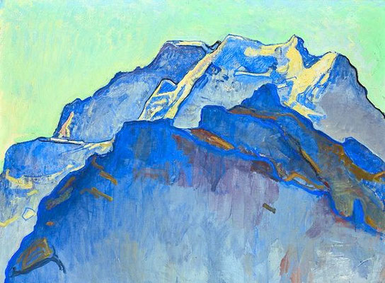 Ferdinand Hodler: Jungfrau massif and Schwarsmönch