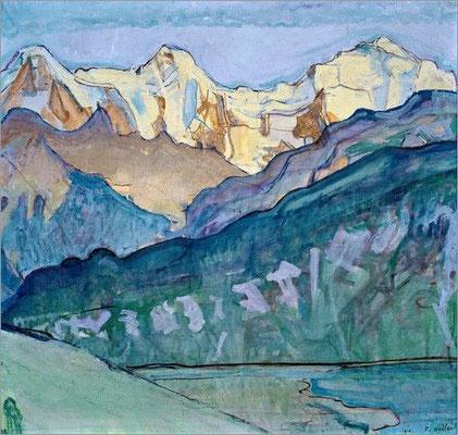 Ferdinand Hodler: Jungfrau, Mönch en Eiger