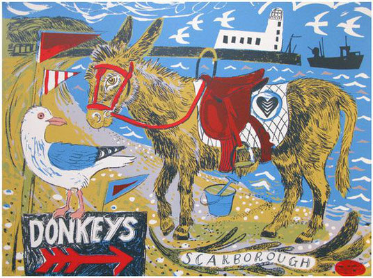 Mark Hearld: Beach scene
