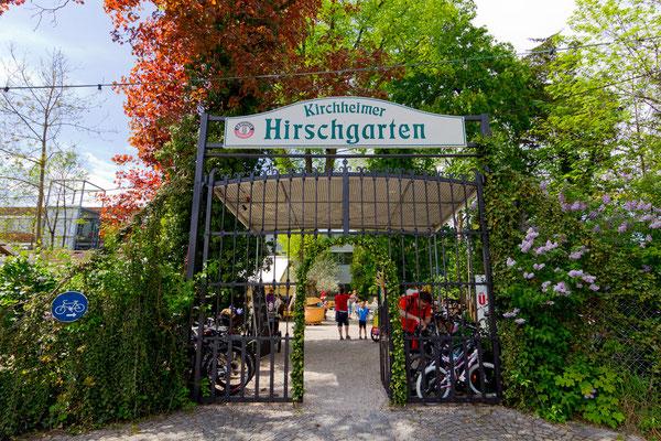 Der Kirchheimer Hirschgarten - Biergarten unter Kastanien - 10