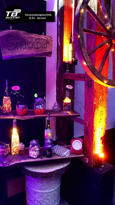 Hochzeits Dj Königswinter: Lightcans + Ambientebeleuchtung