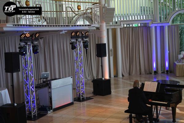 Hochzeits DJ Petersberg in der Rotunde - Blick aufs DJ Pult