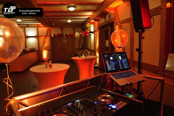 Blick vom DJ Pult - DJ in Dernau buchen