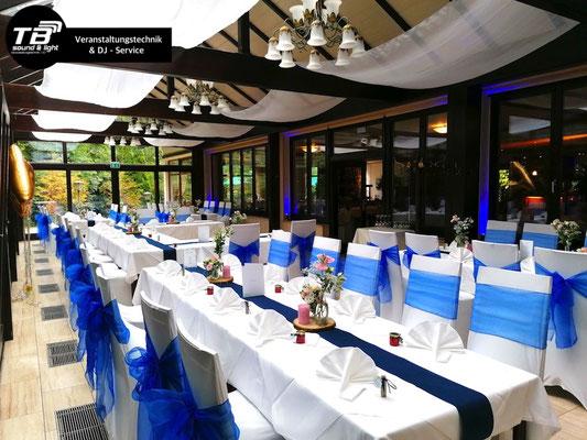 Hochzeits Dj im Waldcafe Bonn - Akku Spots für Ambientebeleuchtung