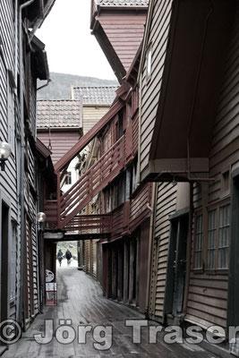 Hanseviertel Bergen rot