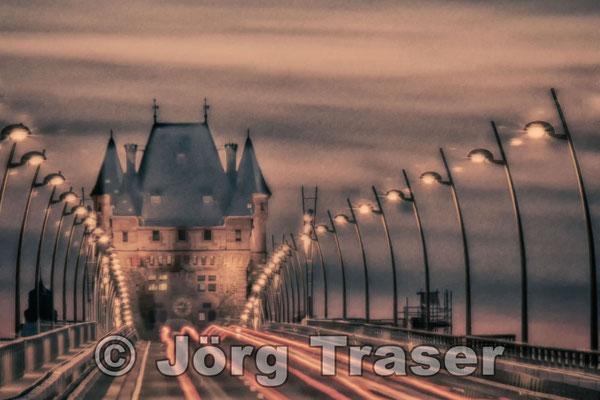 Rheinbrücke Worms Vintage