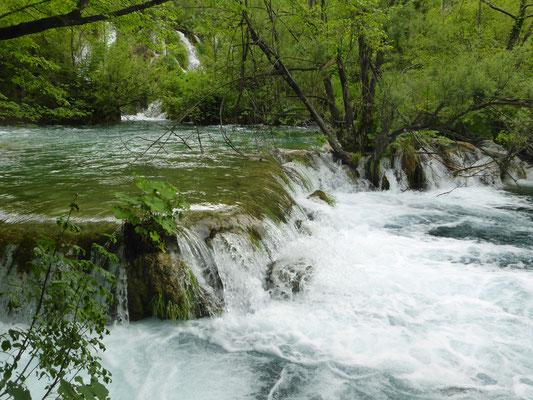 Plitwitzer Seen, Wasserfälle