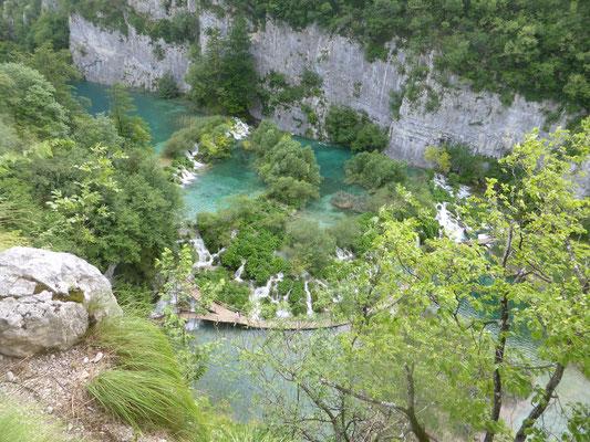 Plitwitzer Seen, von oben