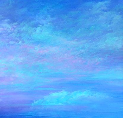 Candy Skies II,  2019, Acryl auf Leinwand, 90x90 cm