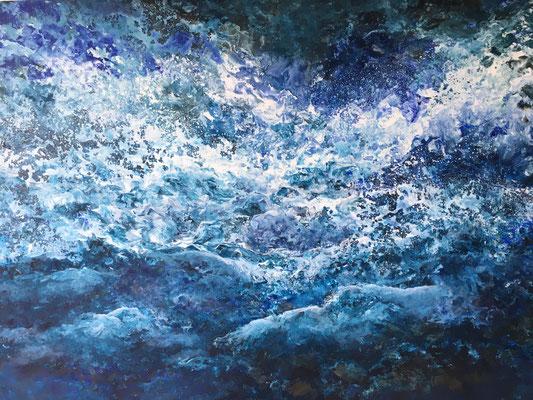 Aquatic, 2020, Acryl auf Leinwand, 100x140 cm