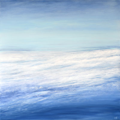 Flying, 2019, Acryl auf Leinwand, 90x90 cm, in Privatbesitz